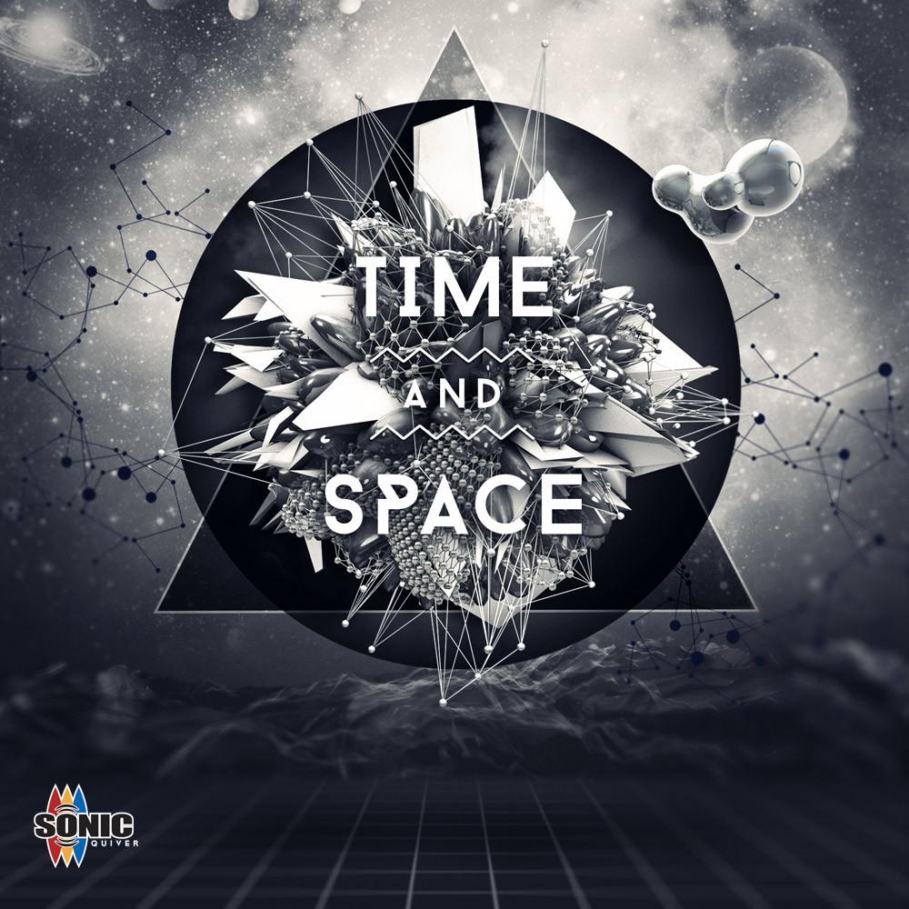 Time space cd album cover graphic design