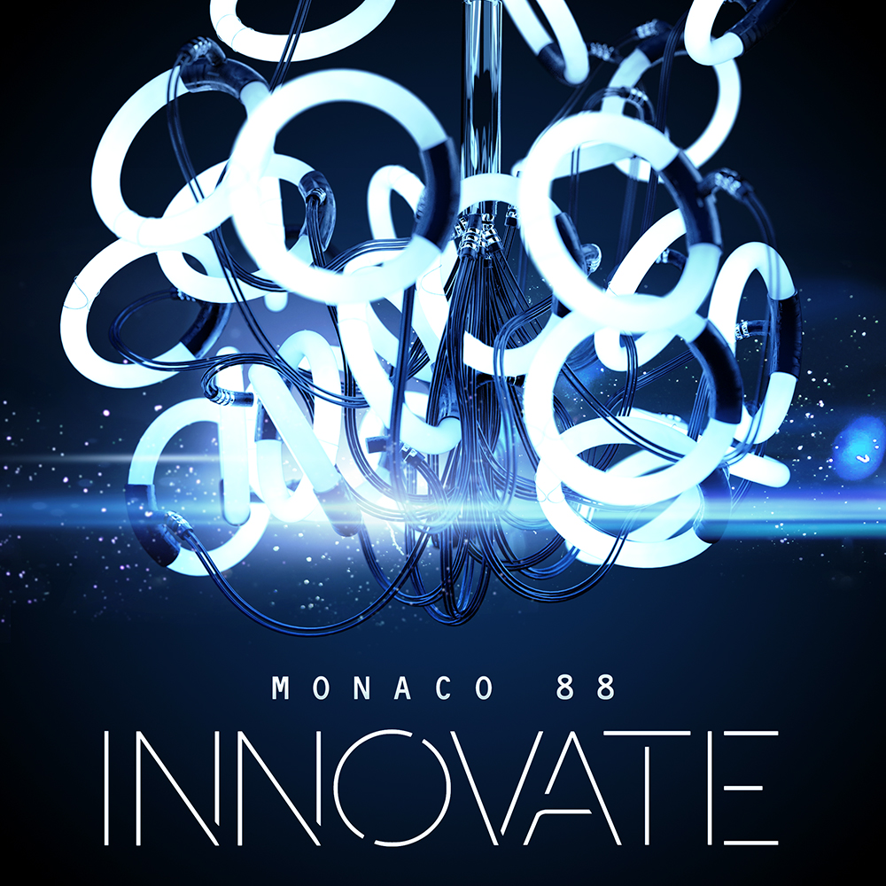 DeWolfe music Innovate album cover design