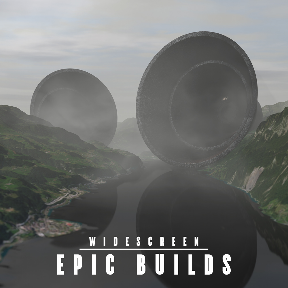 EPIC BUILDS trailer music album cover design