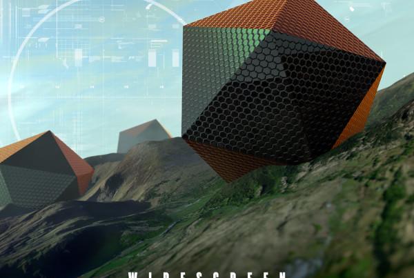 Electronic pulses trailer music album cover design artwork