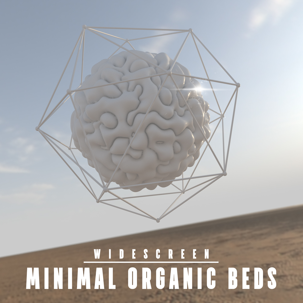 Minimal Organic trailer music album cover design