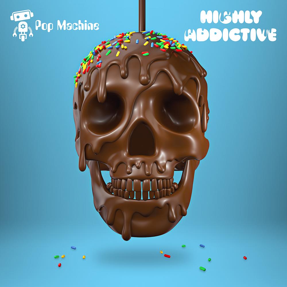 Pop Machine Highly Addictive album cover design