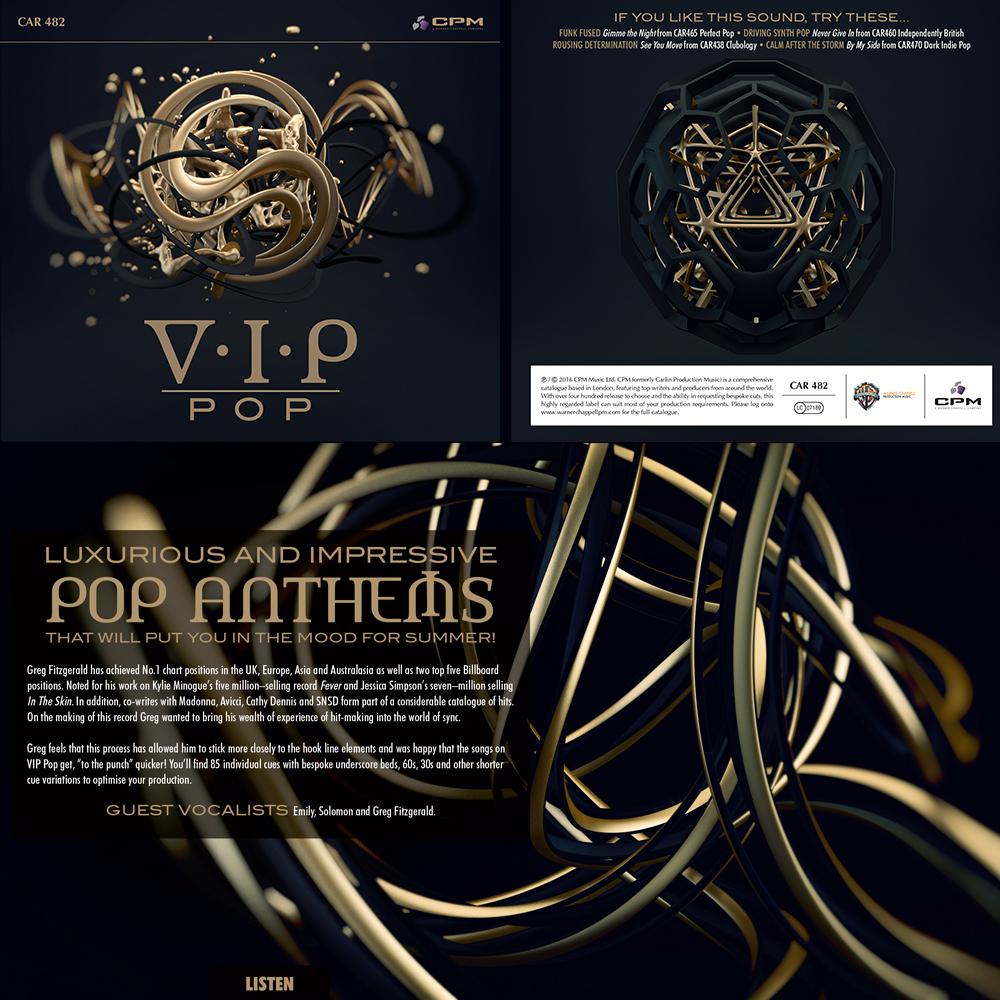 Pop music album cover artwork design