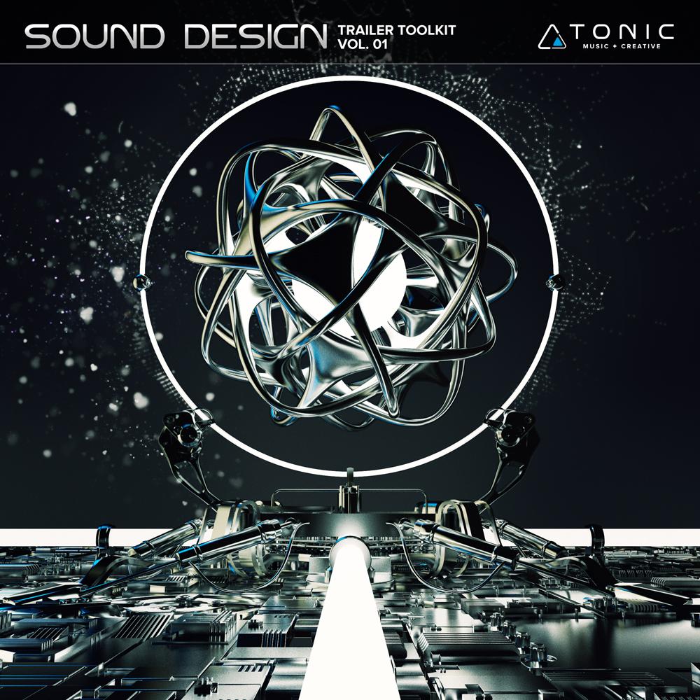 Trailer music sound design toolkit album cover design