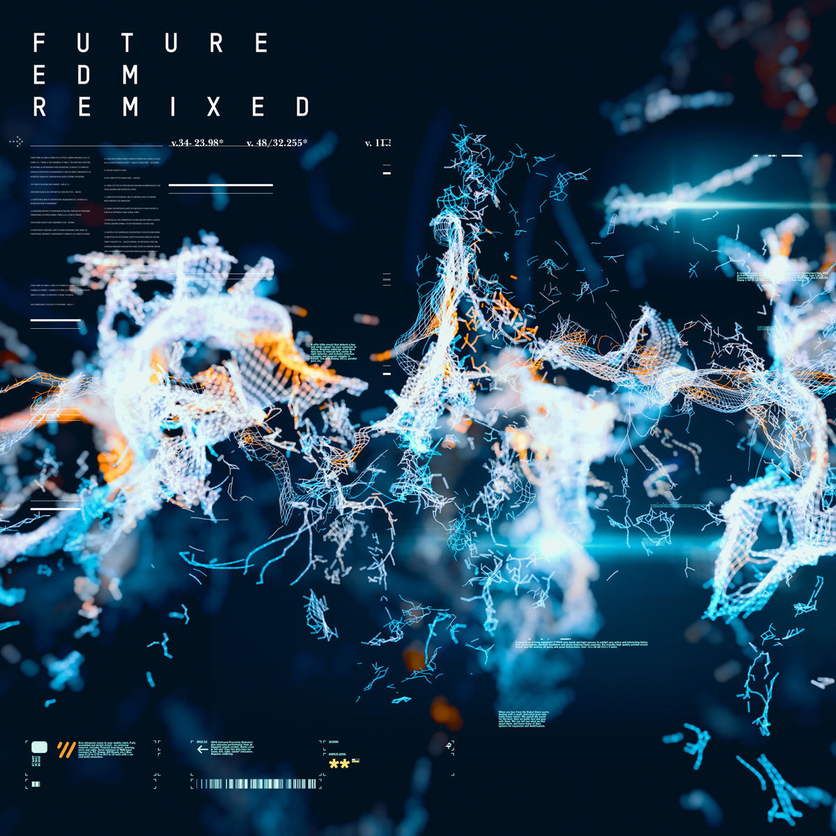 EDM remix particles album cover design