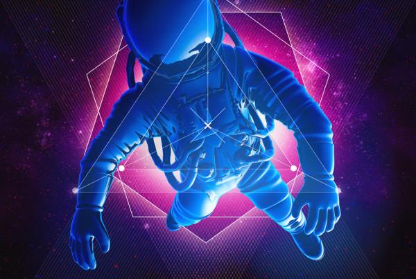Electro Synthwave album cover design