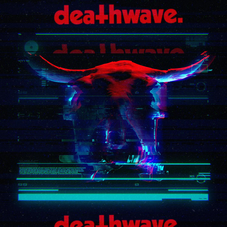 Deathwave Satanic album cover design