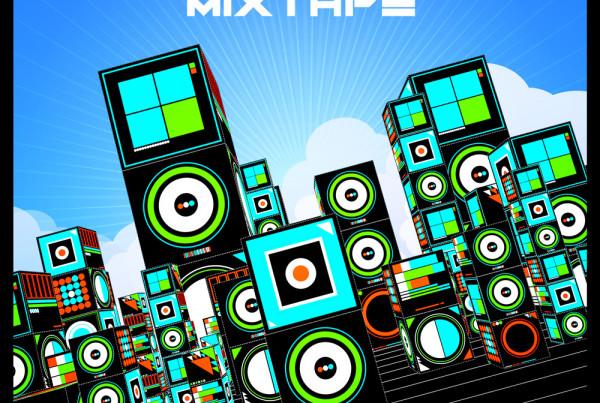 EDM Mixtape album cover illustration