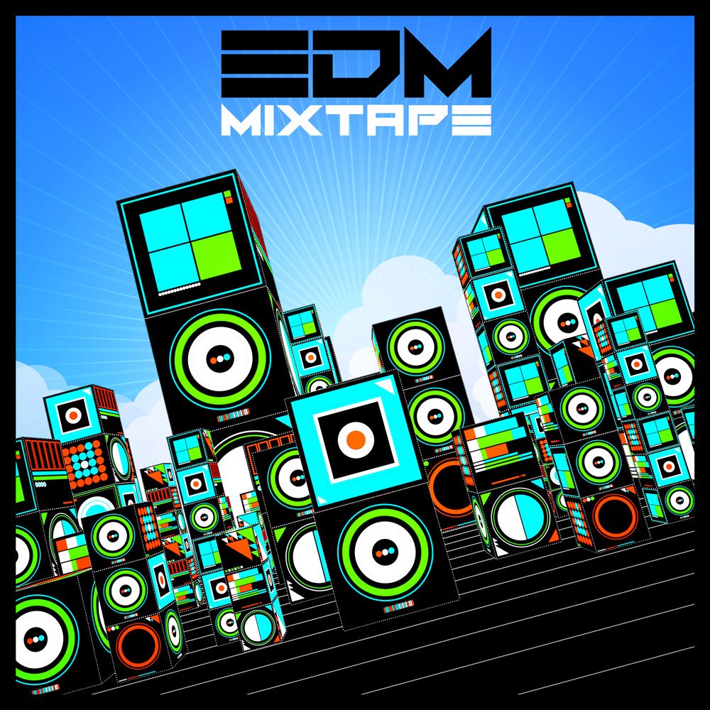 EDM Mixtape album cover illustration