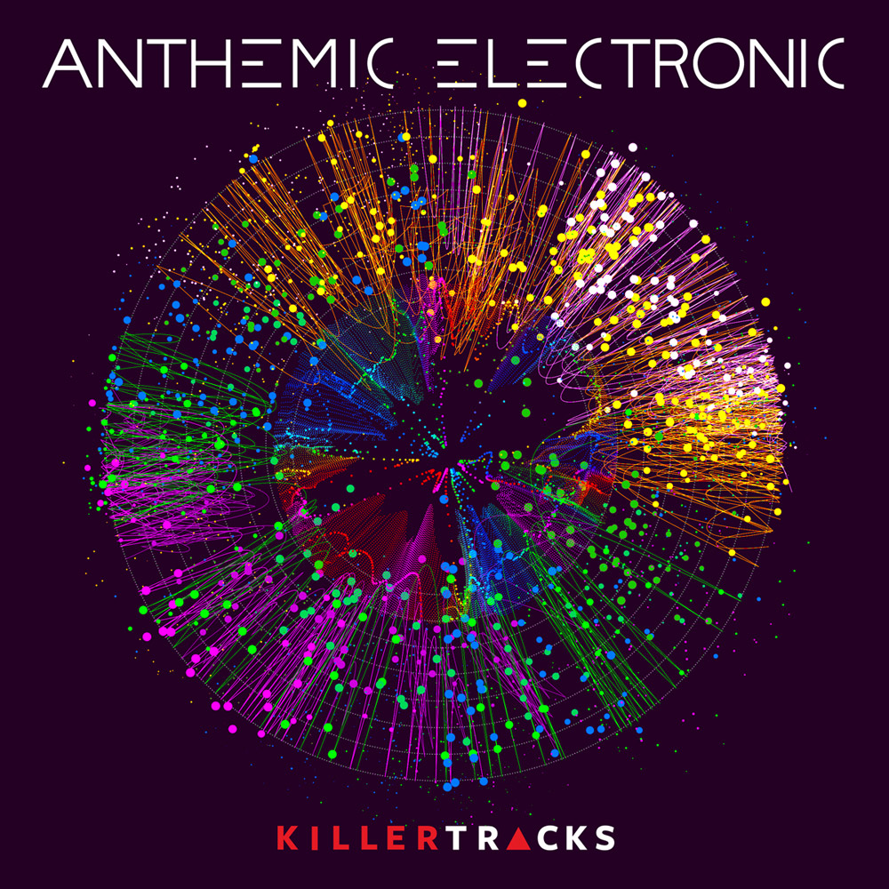 Anthemic electronic album cover design