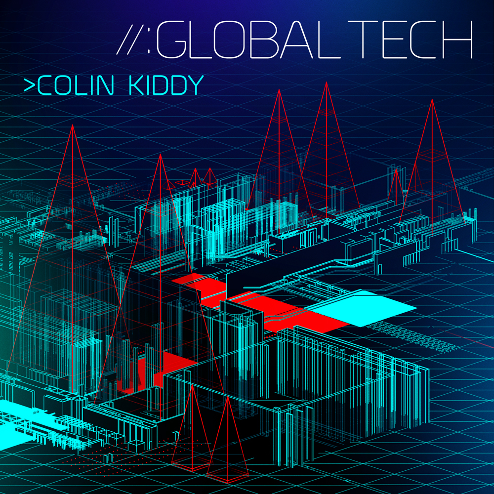 Global Tech 3D album cover design
