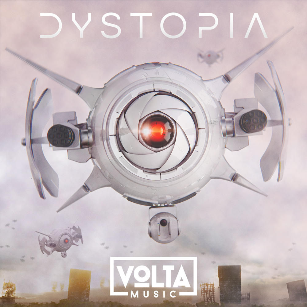 Volta trailer music 3D album cover design dystopia