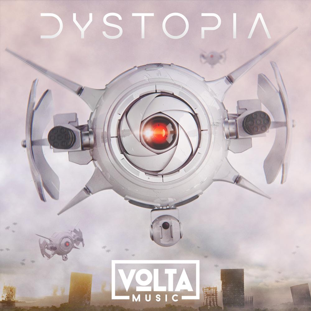Volta trailer music 3D album cover design dystopia