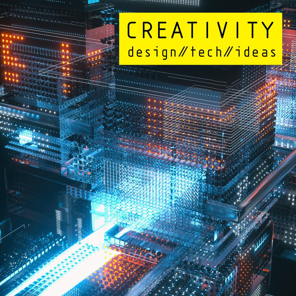 Creativity 3D library music album cover design