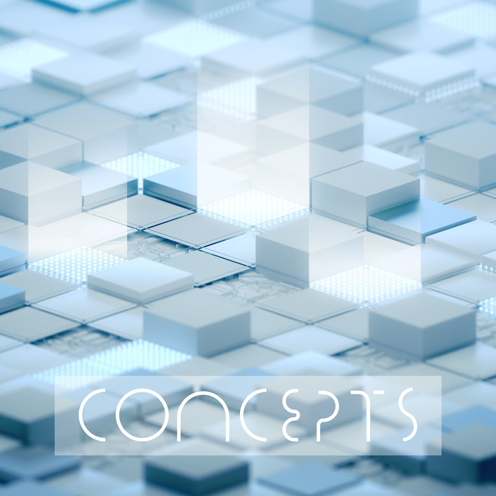 Concepts library production music album cover design