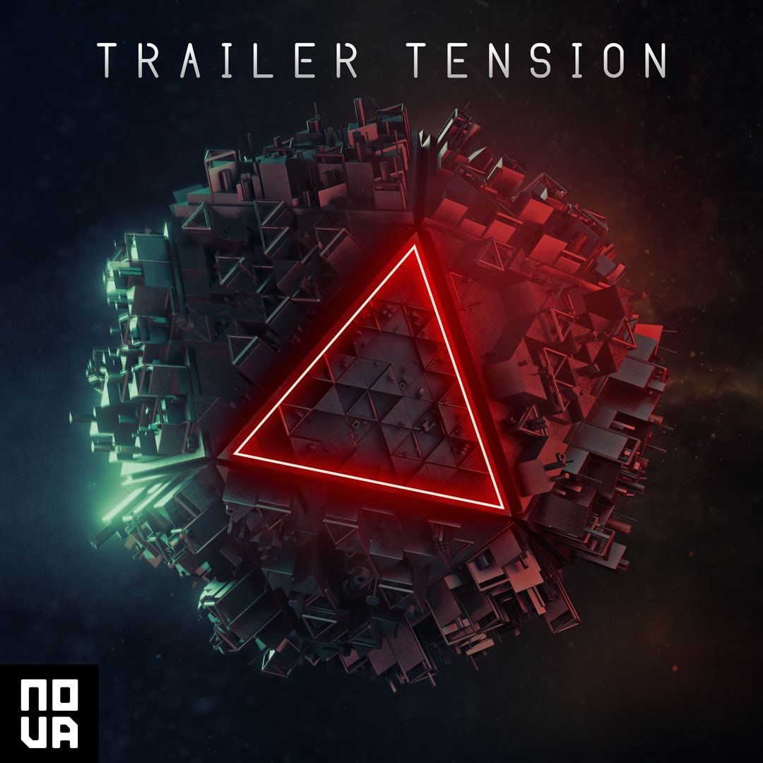 Trailer music 3d album cover design