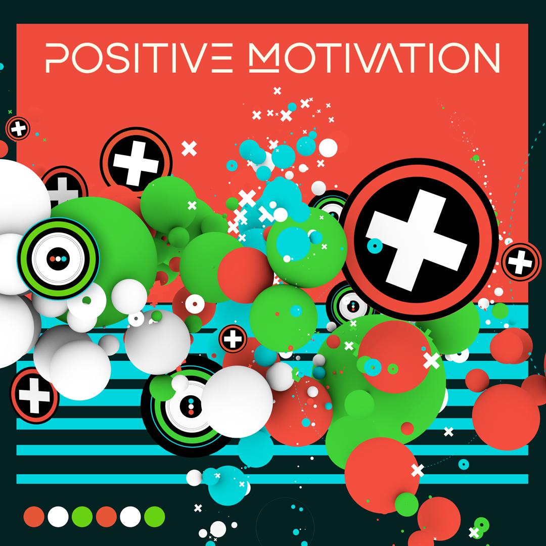 Positive Motivation 3D album cover design