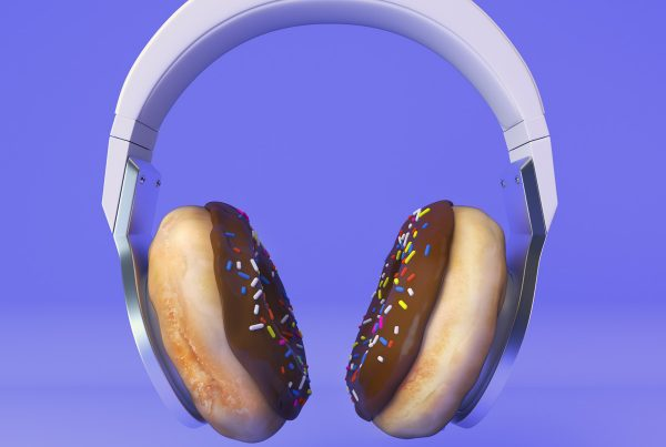 Ear Delicious library music album cover 3D illustration