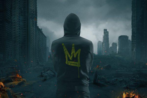 3D album cover design for urban hip hop trailer music